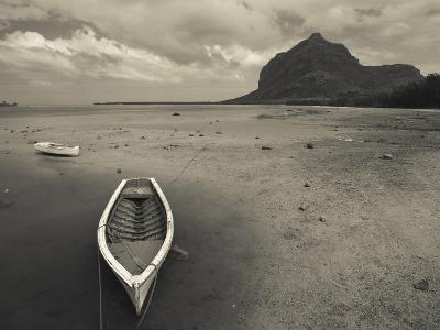 Boats on the Beach, Le Morne Brabant, Mauritius--Photographic Print