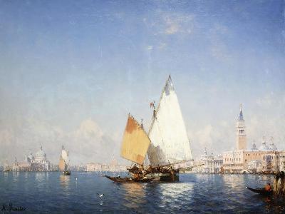 Boats on the Lagoon-Amedee Rosier-Giclee Print