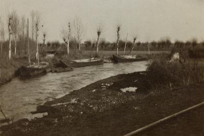 Boats on the River Corno--Photographic Print