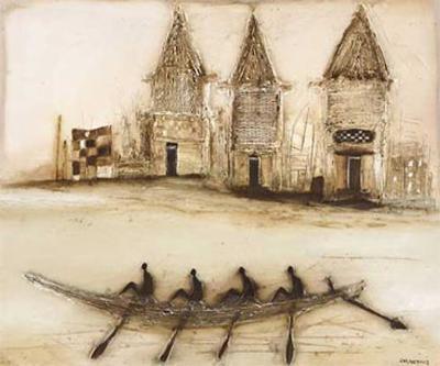 Boats on the River I-Jan Eelse Noordhuis-Art Print