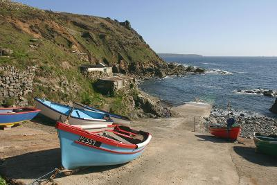 Boats on the Slipway at Cape Cornwall, Cornwall-Peter Thompson-Photographic Print