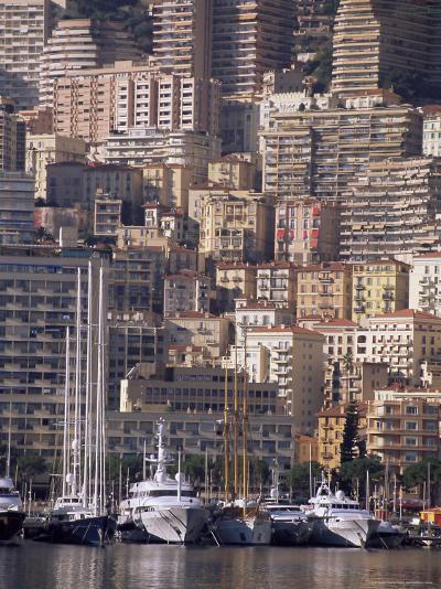 Boats on the Waterfront, Monte Carlo, Monaco, Cote d'Azur, Mediterranean, Europe-Sergio Pitamitz-Photographic Print