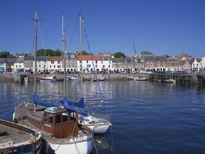 Boats on Water and Waterfront at Neuk of Fife, Anstruther, Scotland, United Kingdom, Europe-Kathy Collins-Photographic Print