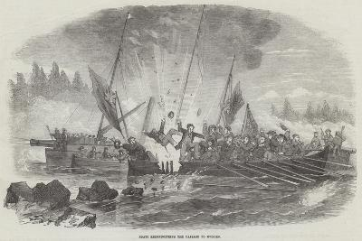 Boats Reconnoitring the Passage to Wyborg--Giclee Print