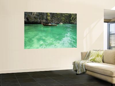 Boats with Tourist Going to Phi-Phi Island-Christian Aslund-Wall Mural
