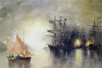 Boats-John Lidzey-Giclee Print