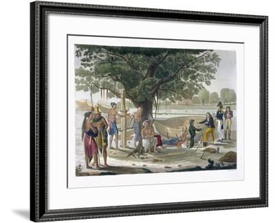 Boatyard Near Kupang, Timor, Plate 9, Le Costume Ancien et Moderne, c.1820-30-Felice Campi-Framed Giclee Print