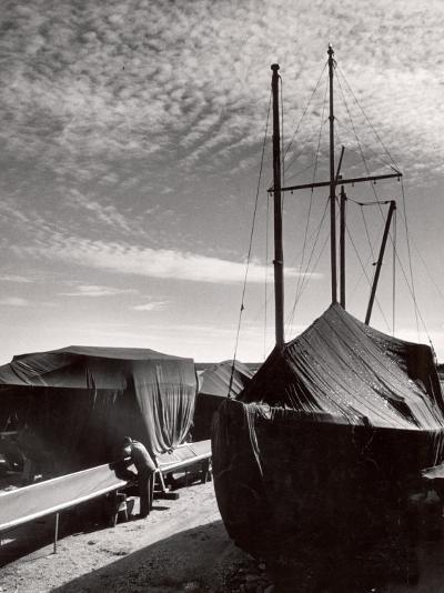 Boatyard on Martha's Vineyard in Winter-Alfred Eisenstaedt-Photographic Print