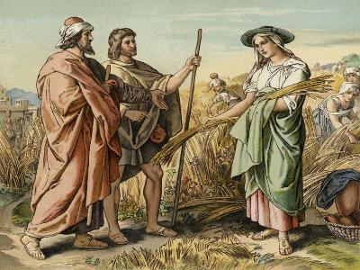 Boaz and Ruth--Giclee Print