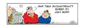 Frank & Ernest - ... And then accountability reared its ugly head! by Bob and Tom Thaves