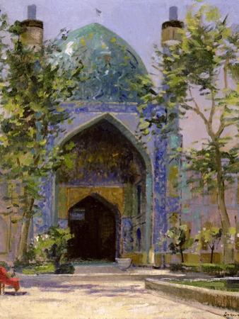 Chanbagh Madrasses, Isfahan by Bob Brown