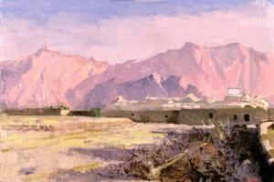Mountain Village, Near Yazd by Bob Brown