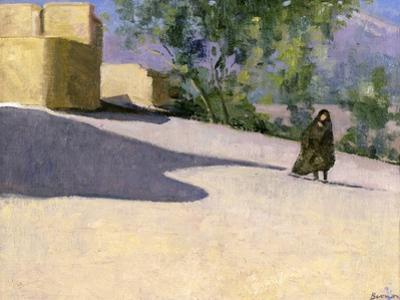 Walking to Work, Yazd by Bob Brown