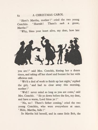'Bob Cratchit and Tiny Tim', 1915-Arthur Rackham-Giclee Print