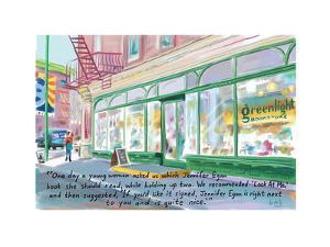 Greenlight Bookstore - Cartoon by Bob Eckstein