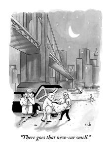 """""""There goes that new-car smell."""" - New Yorker Cartoon by Bob Eckstein"""
