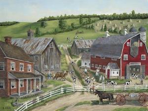 Busy Barnyard by Bob Fair