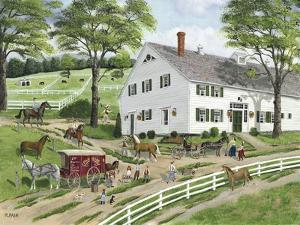 Trimming Hooves at the Stable by Bob Fair