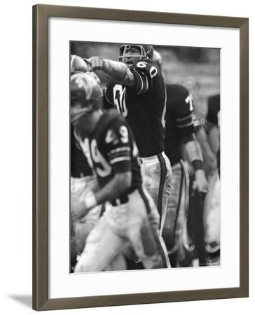 Atlanta Falcons Football Player Tommy Nobis in Action Pointing Across the Field