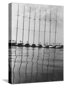 International One Design Class Boats at Long Island Sound Marina by Bob Gomel