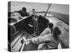 Sailing Class at Yacht Club on Long Island Sound by Bob Gomel