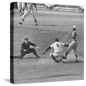 View of the First Game in of the 1961 World Series Between the Reds and the Yankees by Bob Gomel