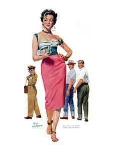 "Miss Temptation  - Saturday Evening Post ""Leading Ladies"", April 21, 1956 pg.30 by Bob Hillbert"