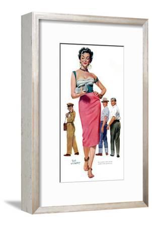 "Miss Temptation  - Saturday Evening Post ""Leading Ladies"", April 21, 1956 pg.30"