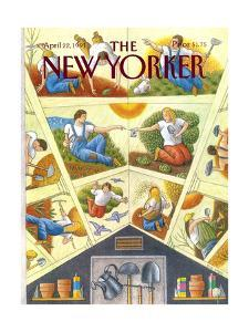 The New Yorker Cover - April 22, 1991 by Bob Knox