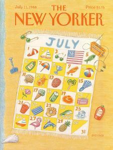 The New Yorker Cover - July 11, 1988 by Bob Knox