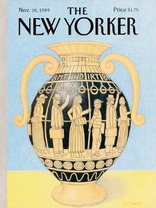 The New Yorker Cover - November 20, 1989 by Bob Knox