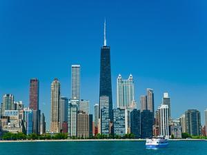 Chicago skyline by Bob Krist