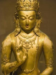 Detail of Bronze Boddhisatva by Zanabazar by Bob Krist
