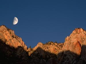 Moon over Streaked Wall Formation by Bob Krist