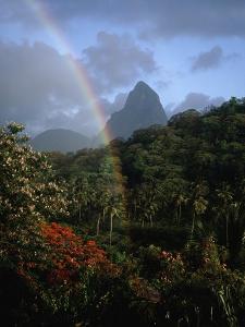 Rainbow near Petit Piton by Bob Krist