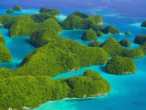 Rock Formations and Islets of the Rock Islands by Bob Krist