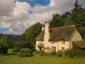 Thatched Roof House near Selworthy, Somerset by Bob Krist