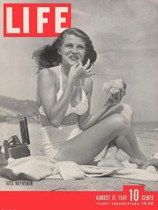 Actress Rita Hayworth, August 11, 1941 by Bob Landry