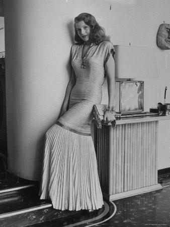"""Actress Rita Hayworth Posing in Wardrobe Columbia Pictures Bought Her for the Movie """"Gilda"""""""