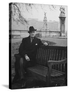 Bernard Baruch Sitting Alone on a Bench in St. James Park by Bob Landry
