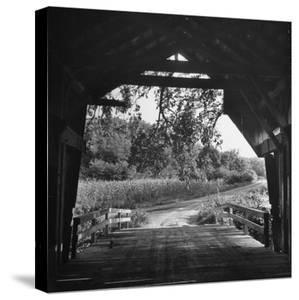 Covered Bridge Entrance Way by Bob Landry