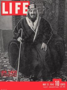Saudi King Ibn Saud, May 31, 1943 by Bob Landry