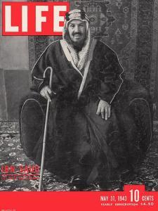 Saudi King Ibn Saud, May 31, 1943 by Bob Landry