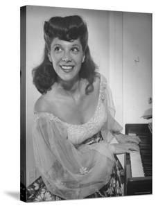 Singer Dinah Shore at Piano by Bob Landry