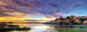 Willow Lake Spring Sunset by Bob Larson