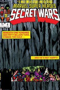 Secret Wars No.4 Cover: Hulk and Captain America by Bob Layton