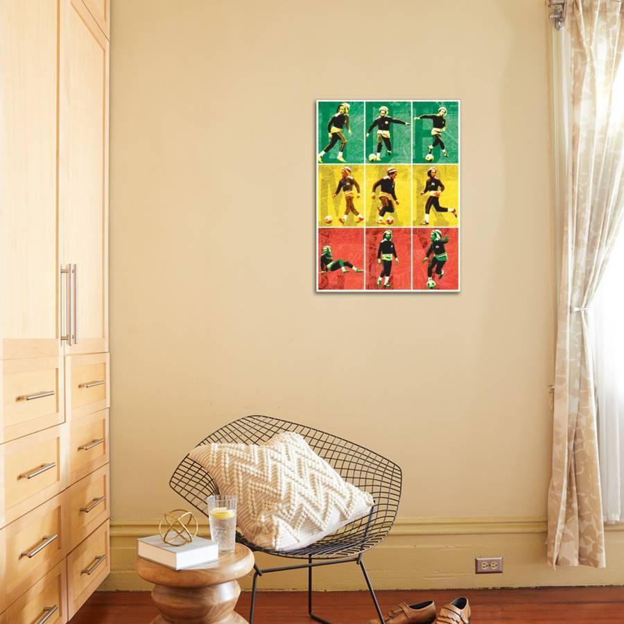 Bob Marley-Football Stretched Canvas Print by | Art.com