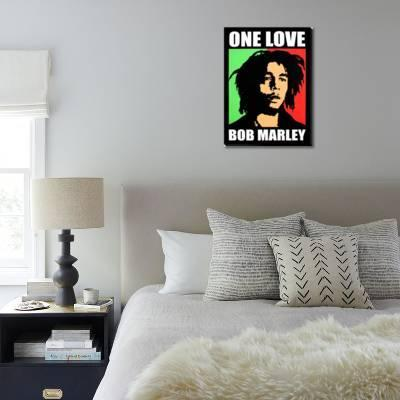Bob Marley One Love Stretched Canvas Print By Art Com