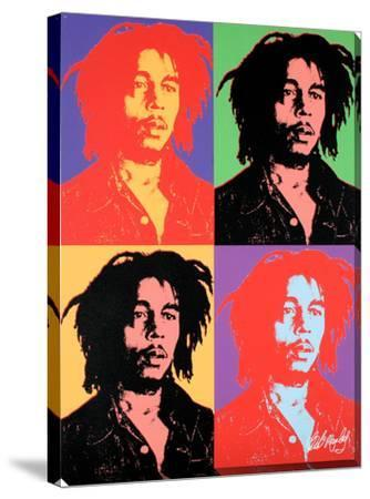 Bob Marley Pop Art Design Stretched Canvas Print By