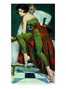 """The Other Wife - Saturday Evening Post """"Men at the Top"""", January 30, 1960 pg.31 by Bob Me Ginnis"""